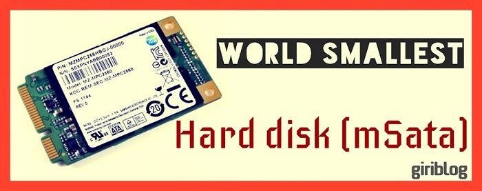 World smallest harddisk