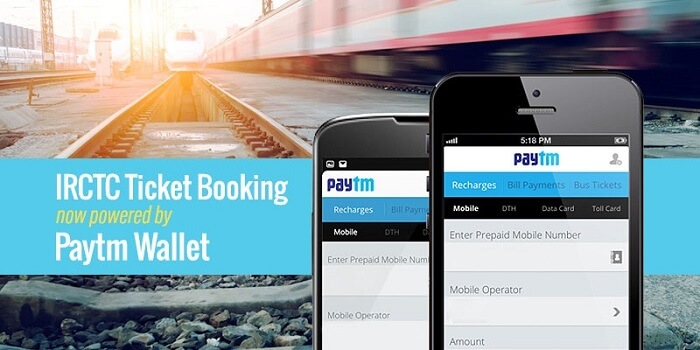 IRCTC Powered by Paytm